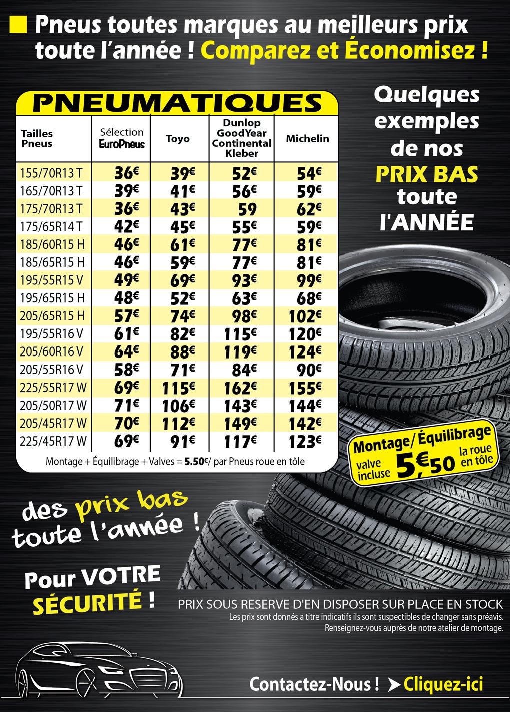 Europneus romans sur is re 26100 dr me votre for Garage renault promotion pneus